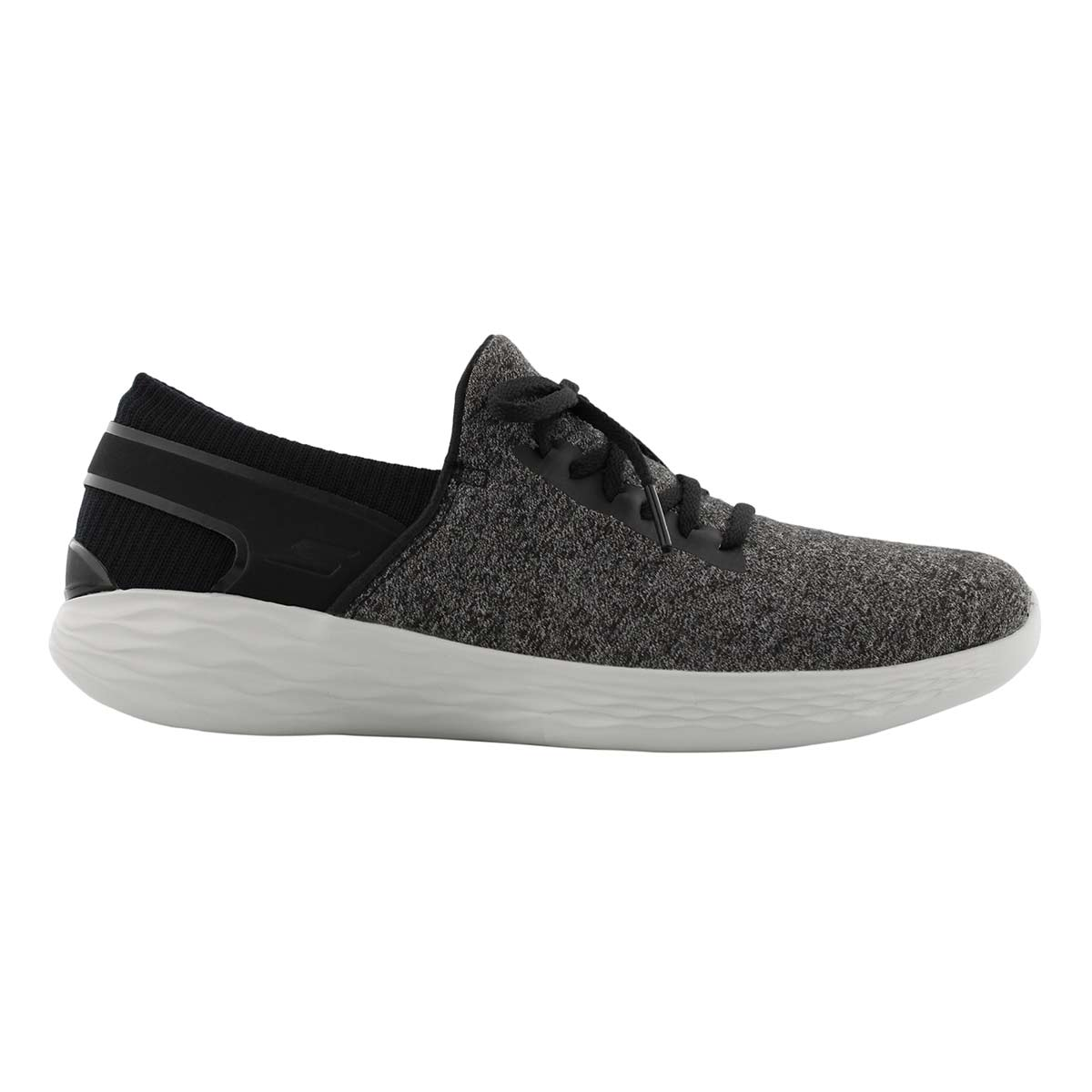 Lds YOU Ambiance blk/gy lace slipon snkr