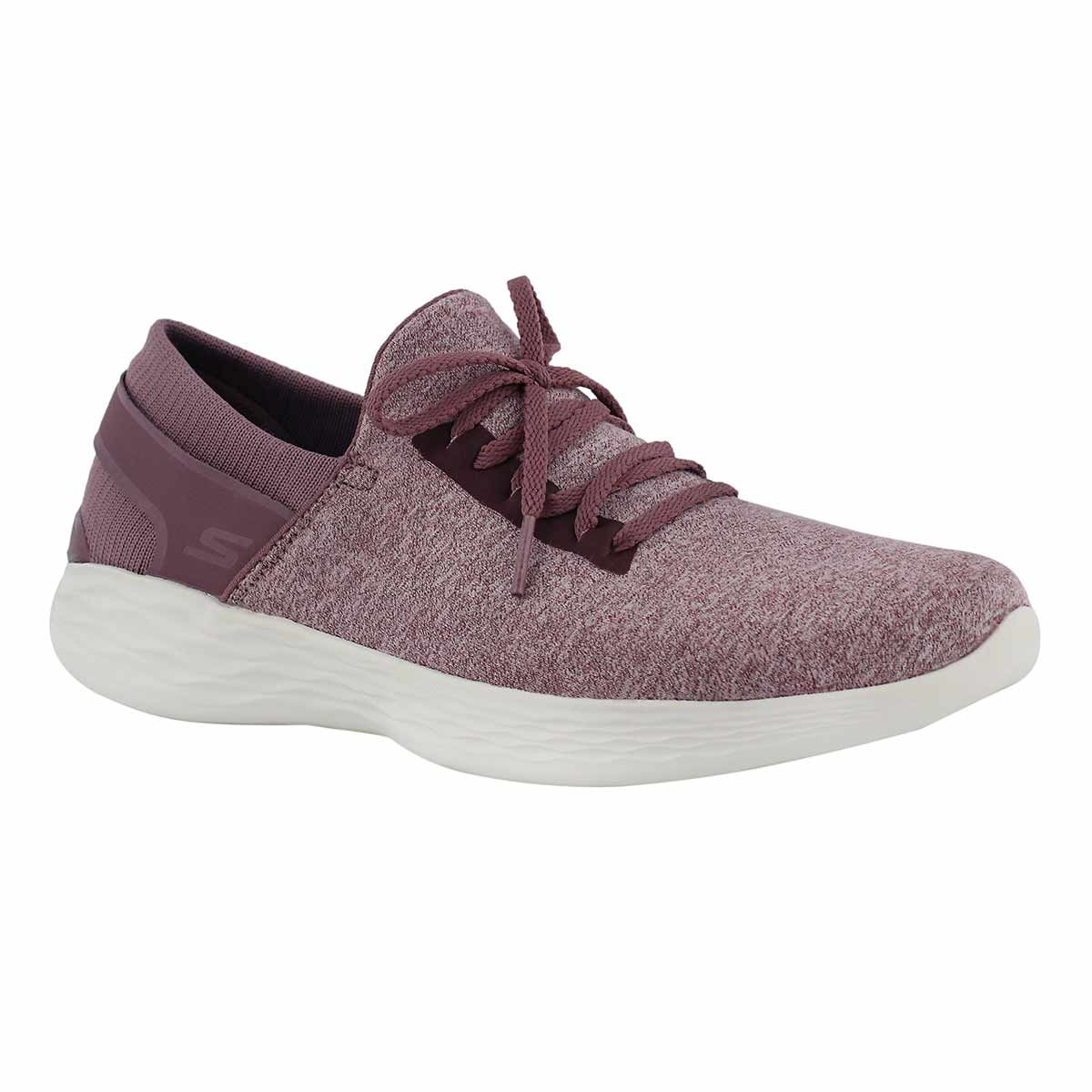 Women's YOU mauve slip on decorative lace sneakers