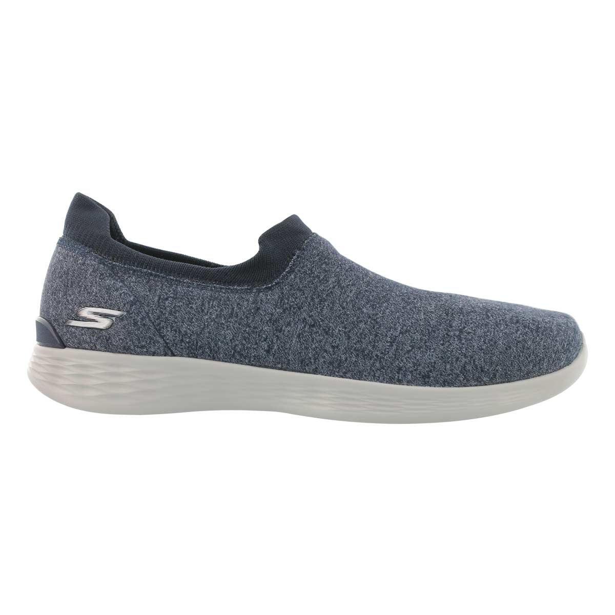 Lds You Define nvy/gry slip on shoe