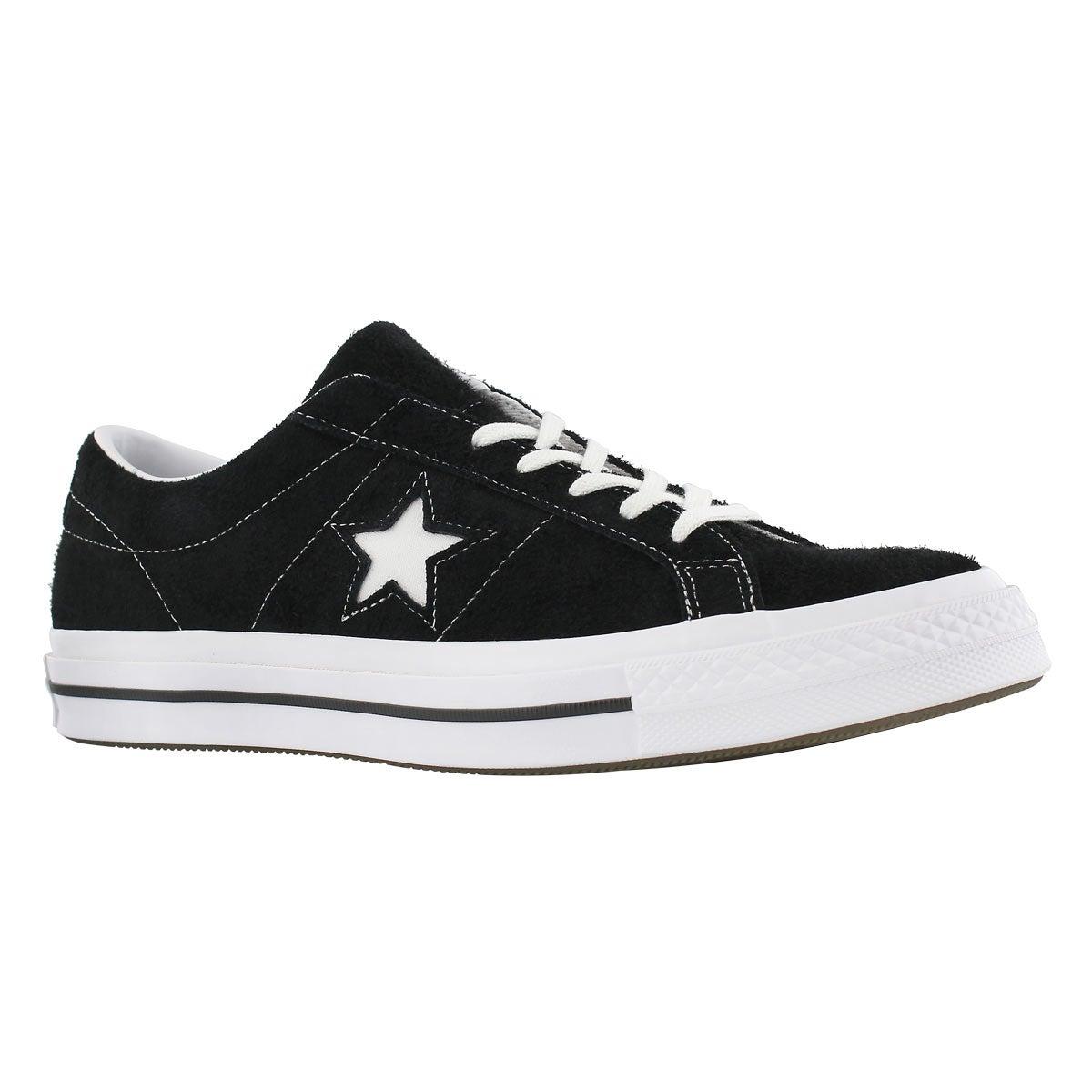 Men's ONE STAR black fashion sneakers