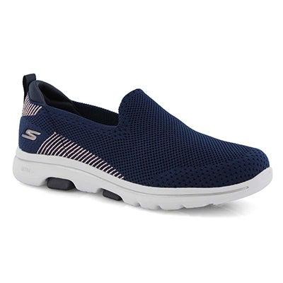 Lds GO Walk 5 Prized navy slipon shoe