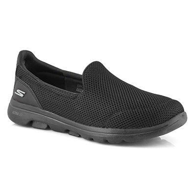 Lds GOwalk 5 blk/blk slip on shoe