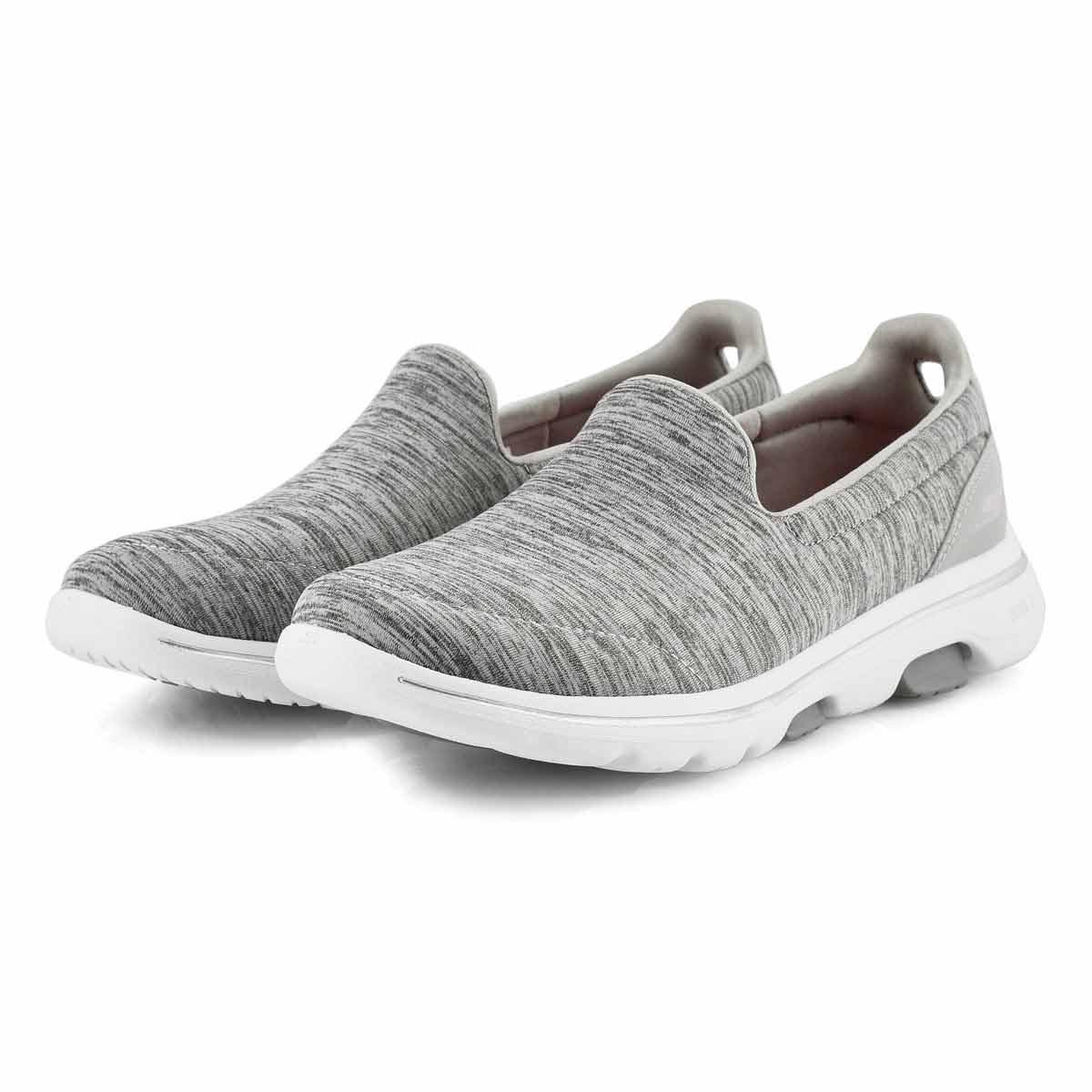 Lds GOwalk 5 Honor grey slip on shoe