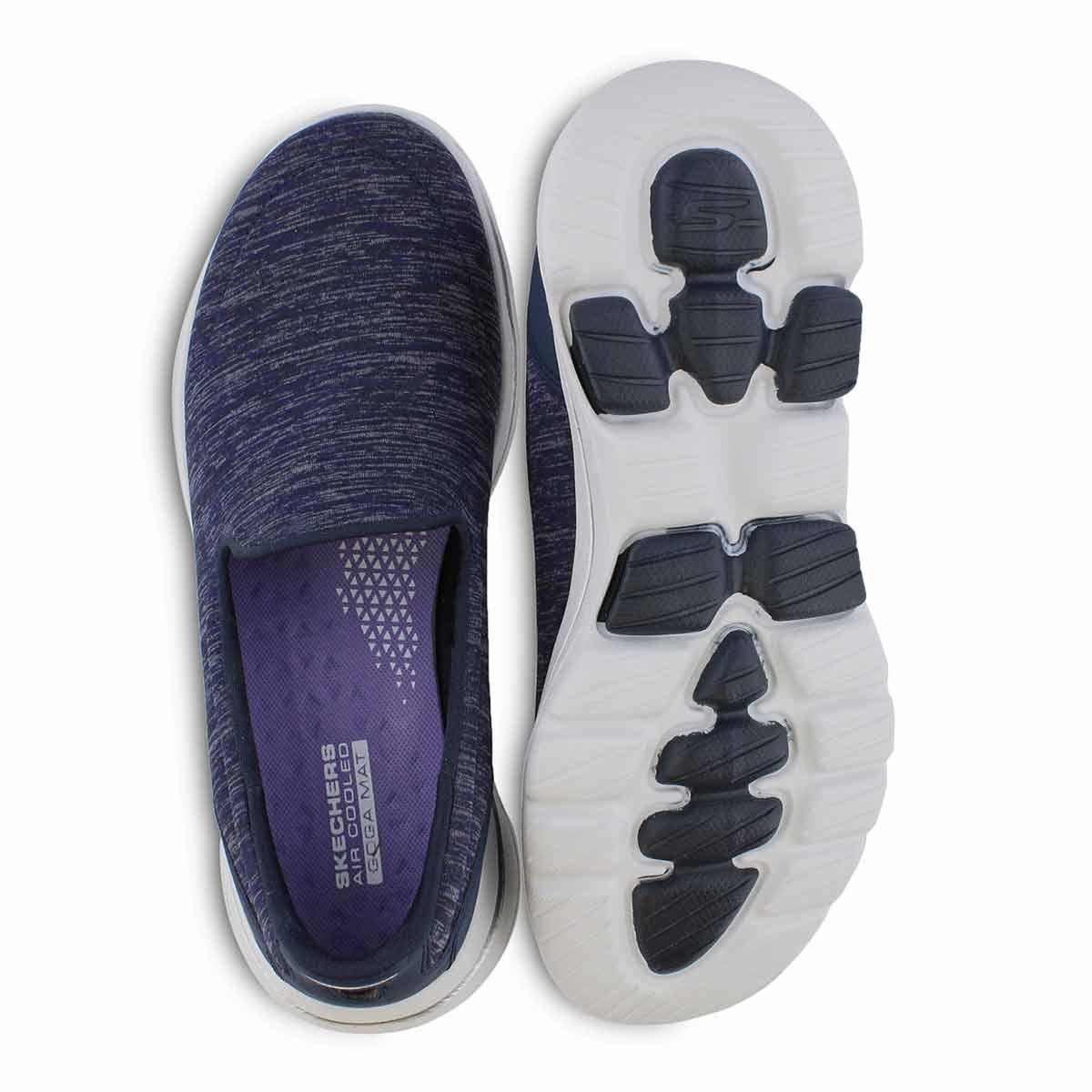 Lds GO Walk 5 Honor nvy/wht slip on shoe