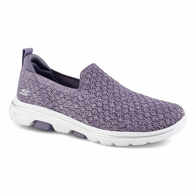 Lds GOwalk 5 Brave purple slip on shoe