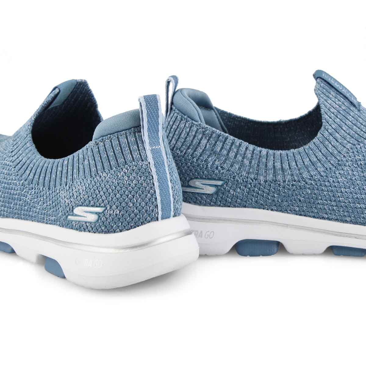 Lds GOwalk 5 Trendy blue slip on shoe