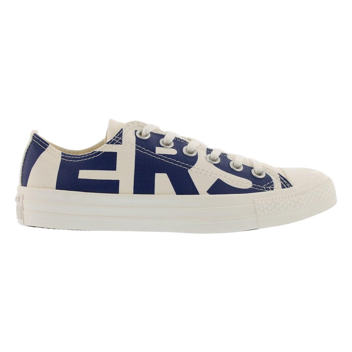 Lds CTAS Wordmark wht/nvy sneaker