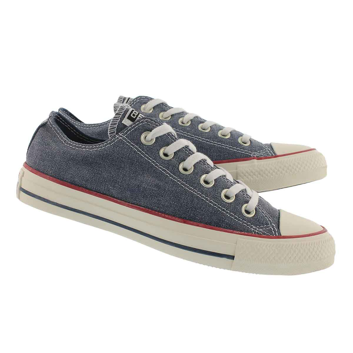 Lds CTAS Stone Wash navy oxford sneaker