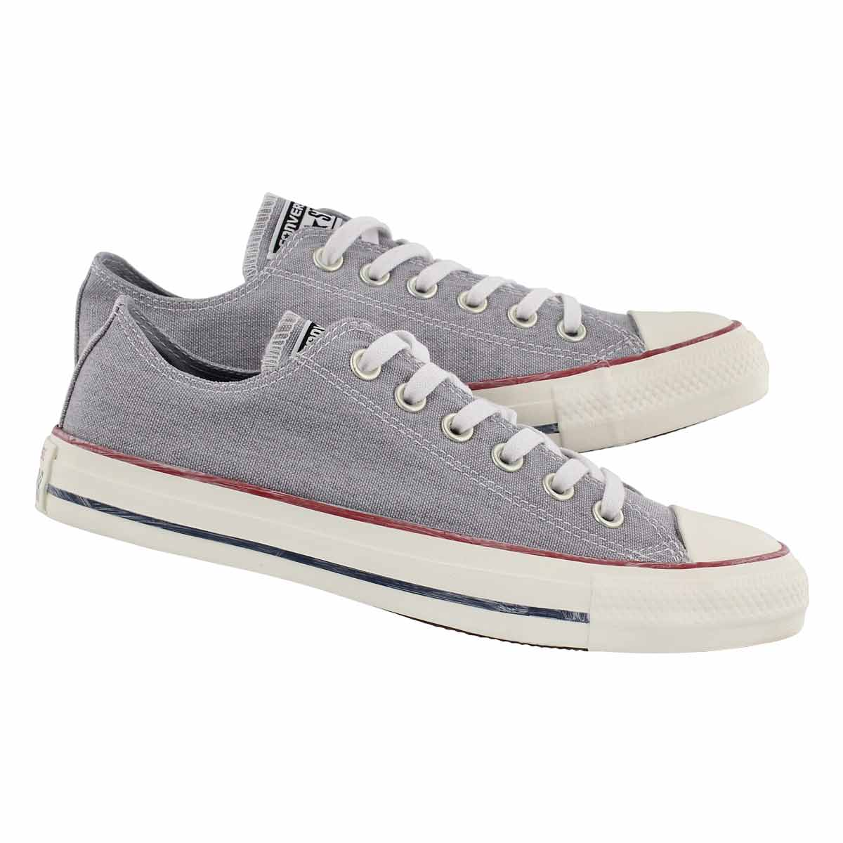 Lds CTAS Stone Wash grey oxford sneaker