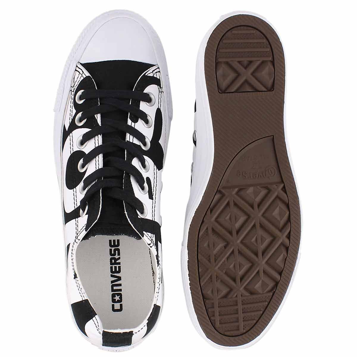 Lds CTAS Wordmark blk/wht sneaker
