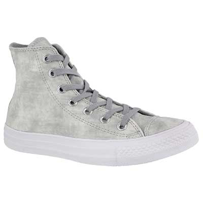 Lds CT AS Peached Wash grey high top