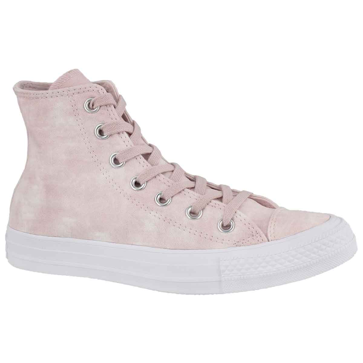 Women's CT ALL STAR PEACHED WASH coral high tops