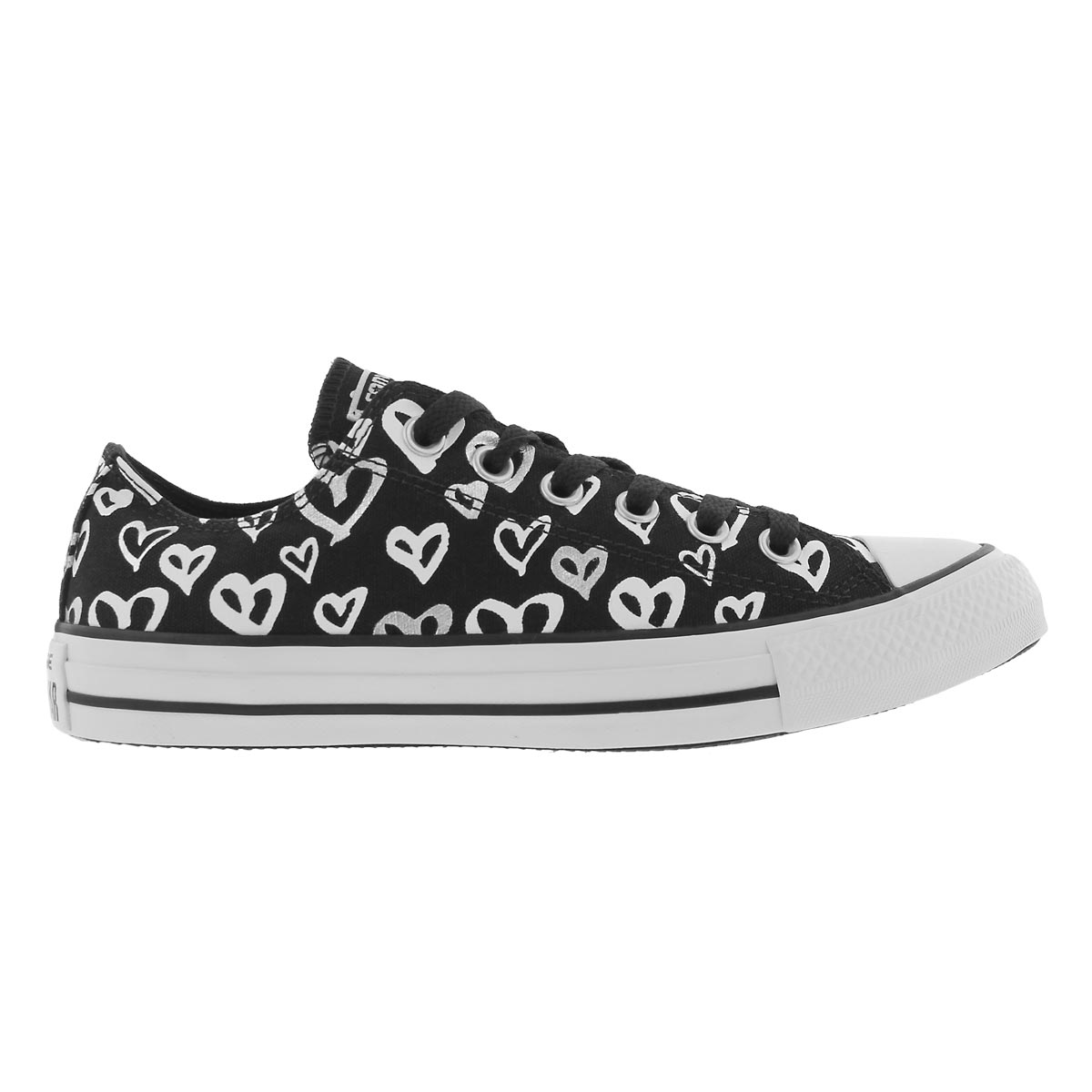 Lds CTAS Bleeding Love blk/slvr sneaker