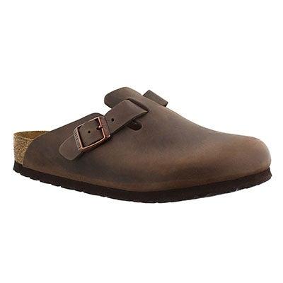 Birkenstock Women's BOSTON brown leather clogs