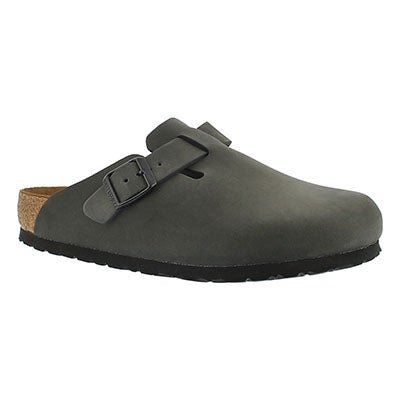 Birkenstock Women's BOSTON grey leather clogs