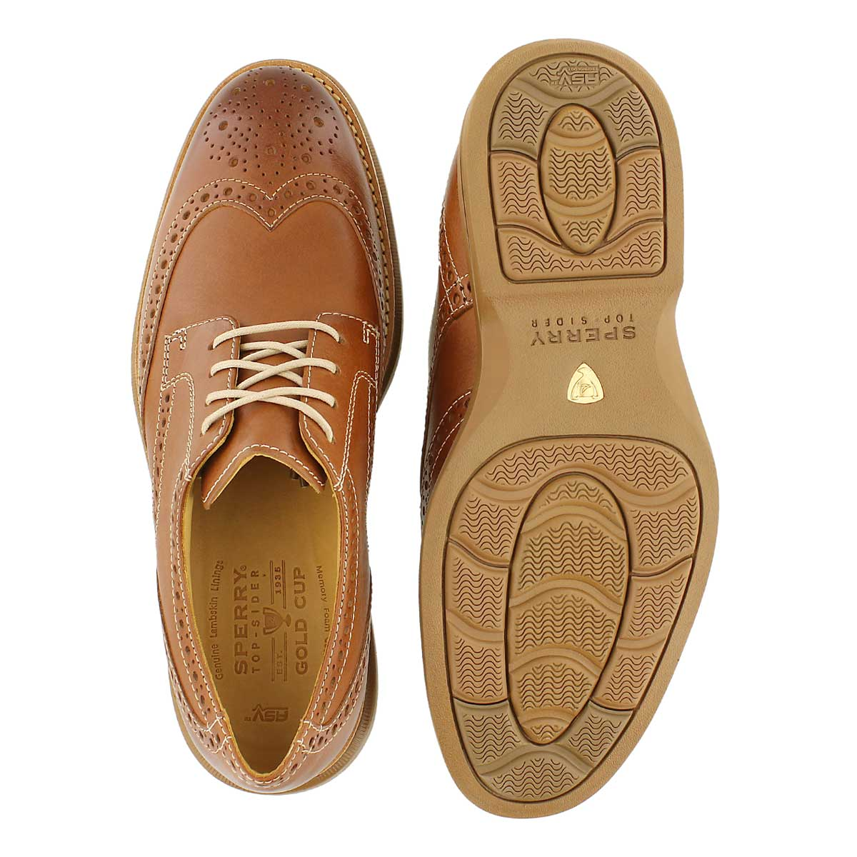 Mns Gold Bellingham Wingtip tan oxford
