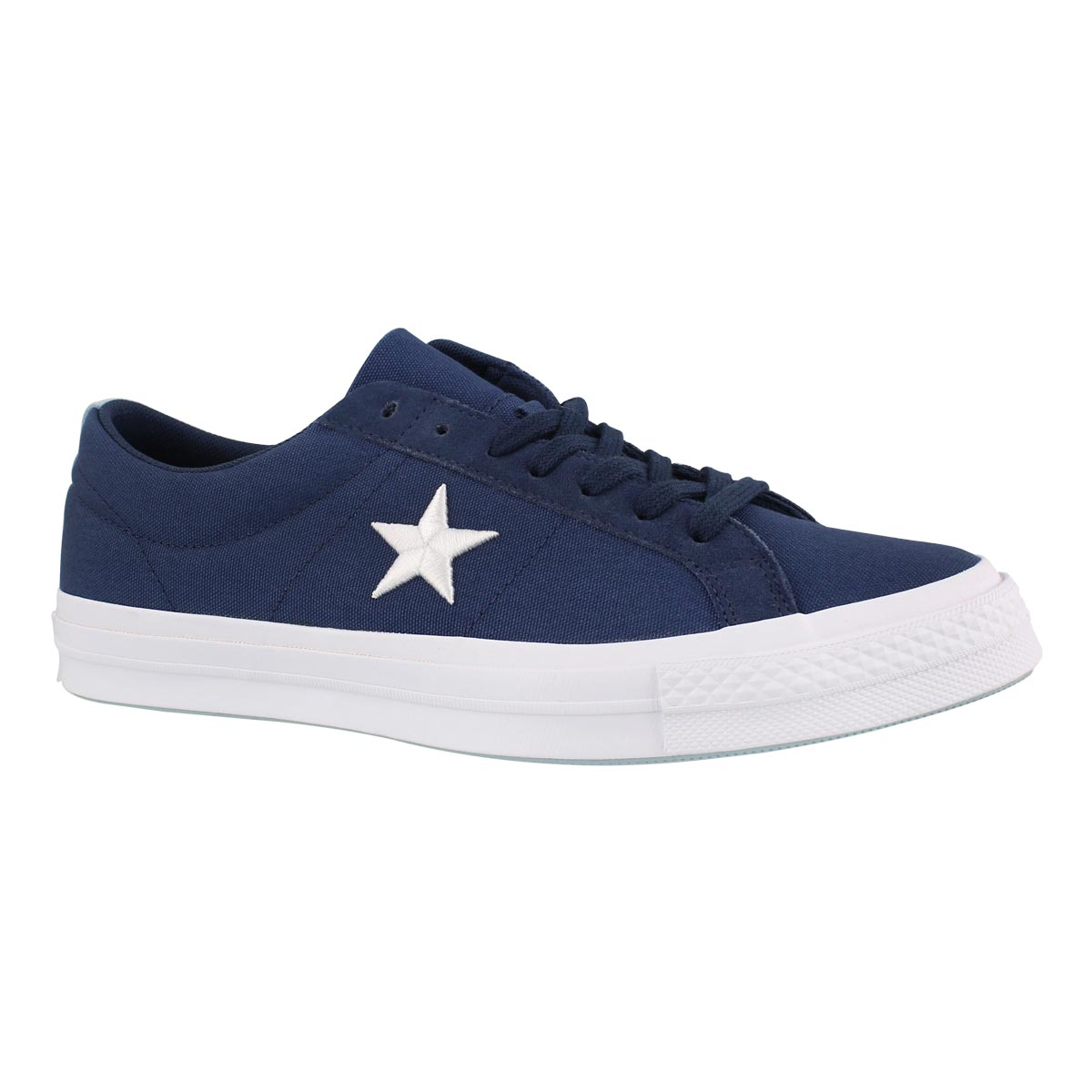 Men's ONE STAR navy/whte fashion sneakers