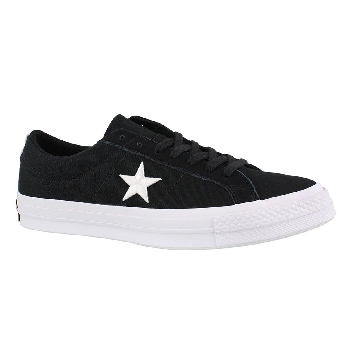 Men's ONE STAR black/white fashion sneakers