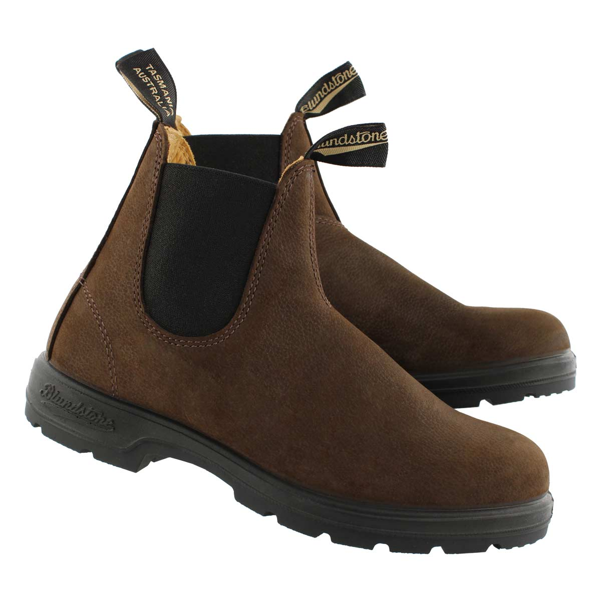 Unisex Lthr Lined brown twin gore boot