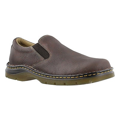 Dr Martens Men's BRYCE brown leather slip-on casual shoes