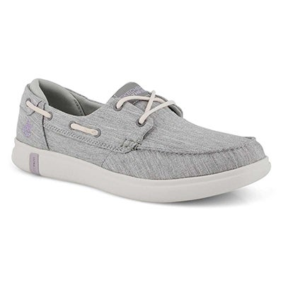 Lds Glide Ultra Waves grey boat shoe
