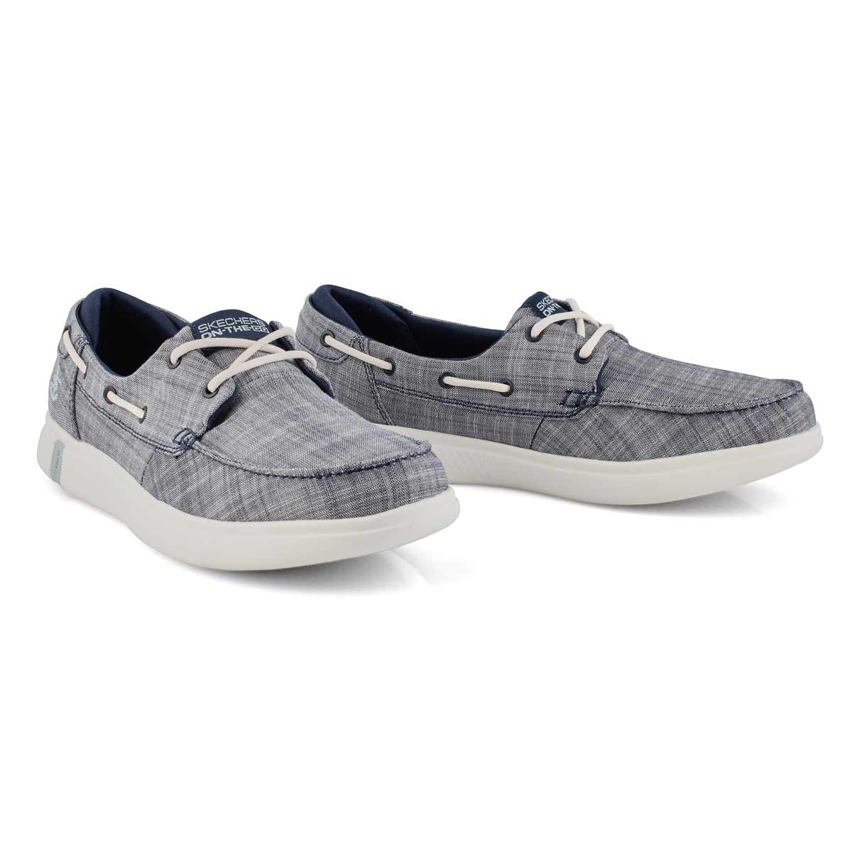 Lds Glide Ultra Waves navy boat shoe