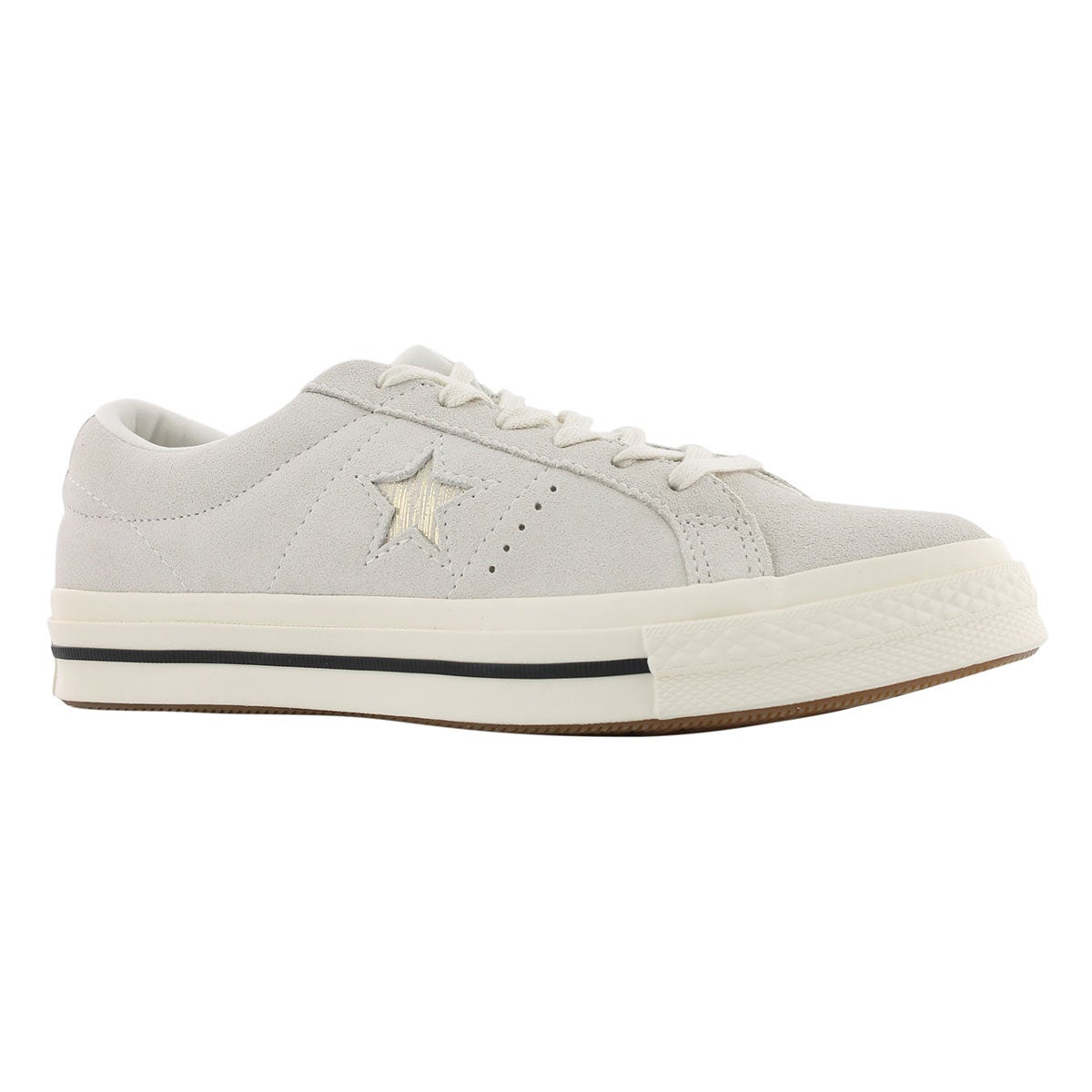 Women's ONE STAR egret/gold sneakers