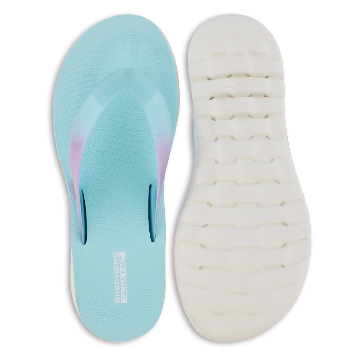 Lds TBA turq/pink flip flop