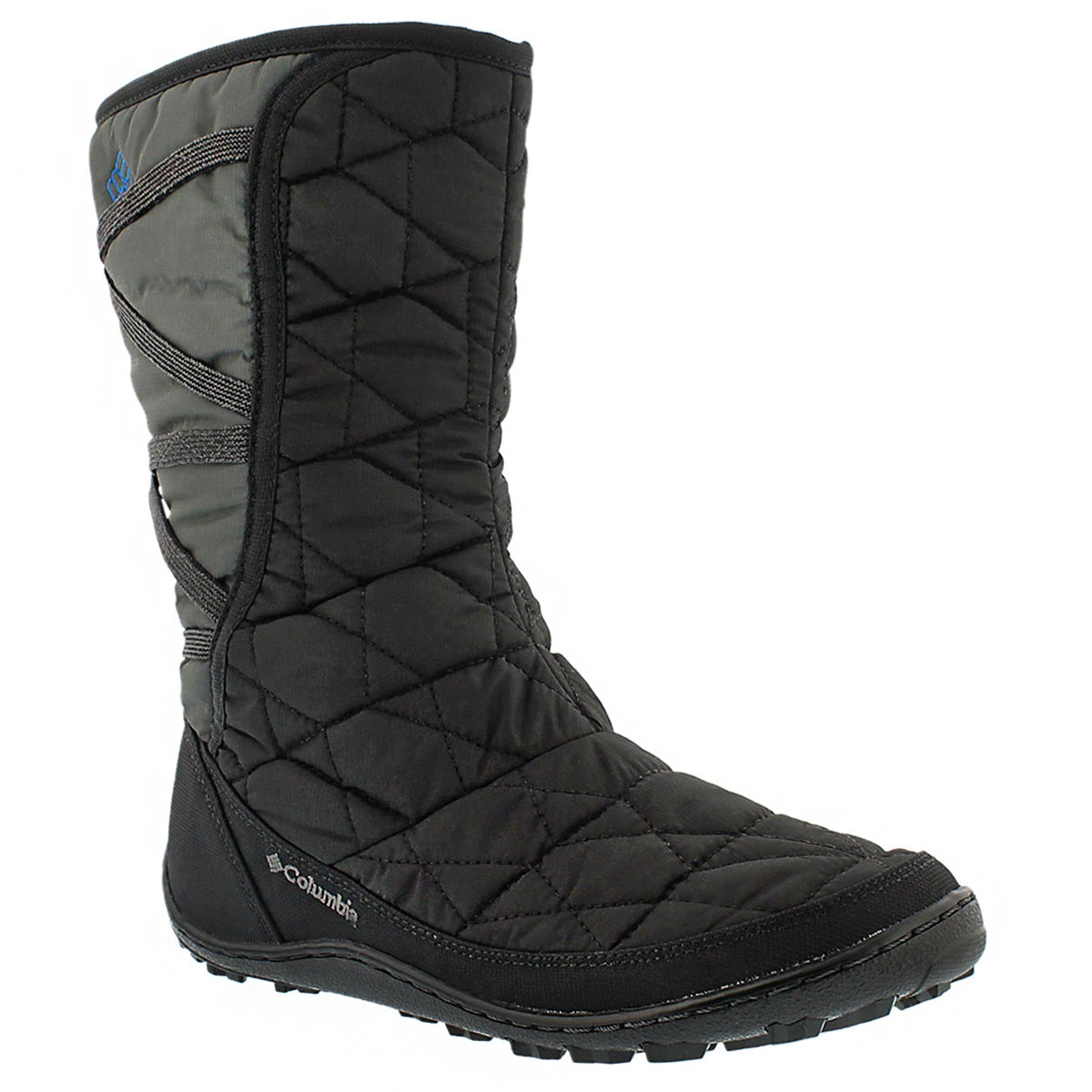 Lds Minx Mid Slip blk pull on wntr boot