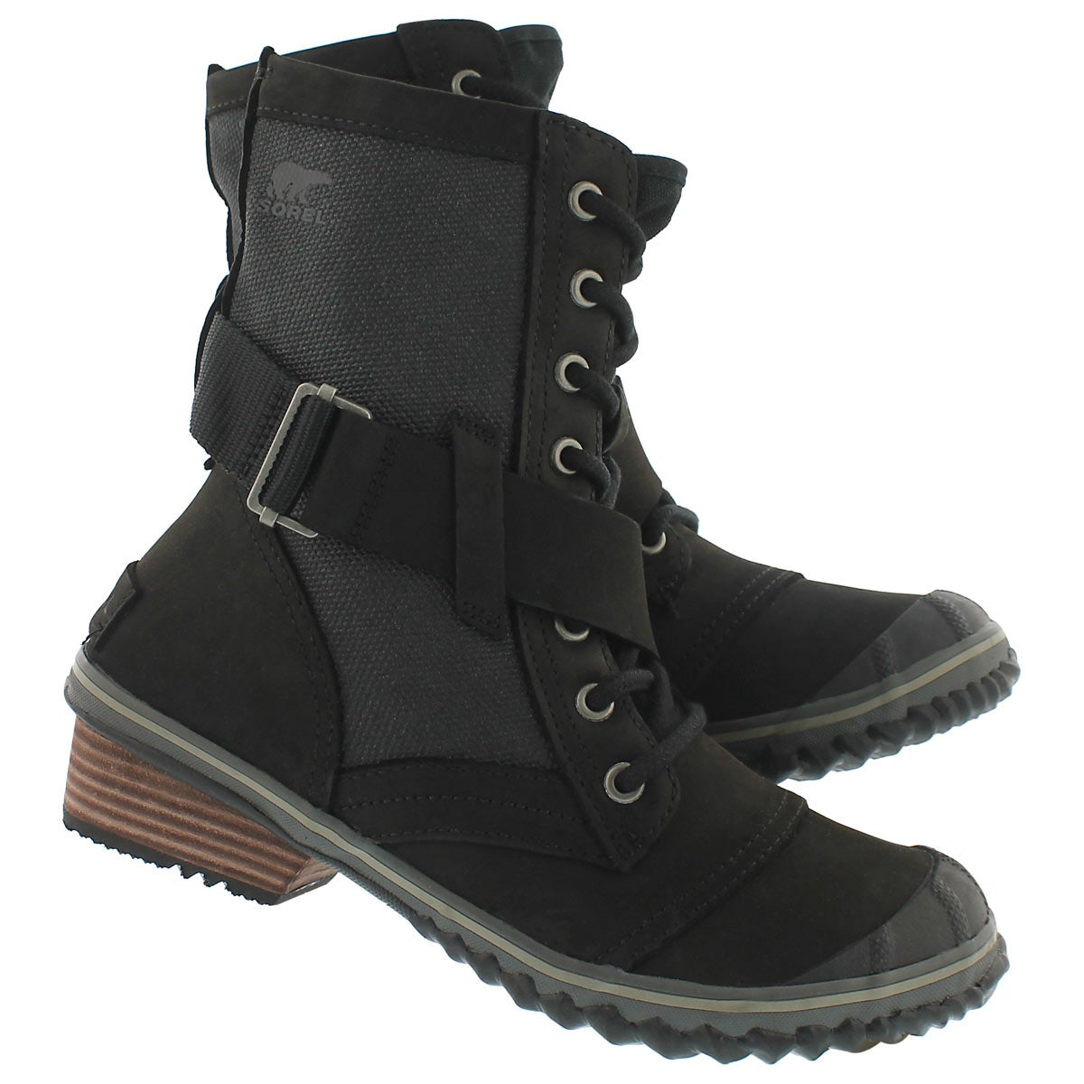 Lds Slimboot Lace black combat boot