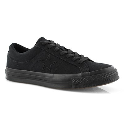 Men's ONE STAR black/black fashion sneakers