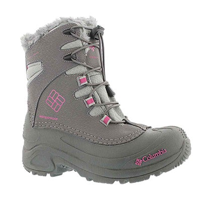 Columbia Girls'  BUGABOOT shale winter boots