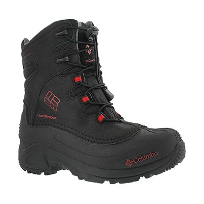 Columbia Boys' BUGABOOT black omni heat winter boots