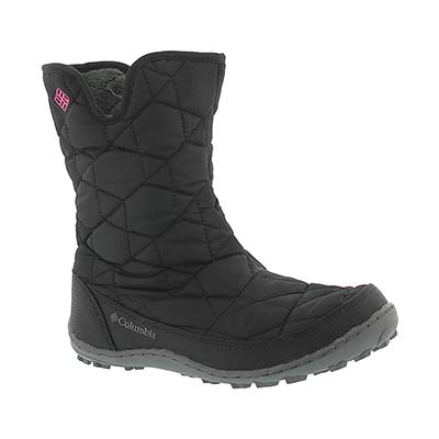 Columbia Girls' MINX SLIP black winter boots