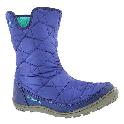 Columbia Girls' MINX SLIP grape winter boots