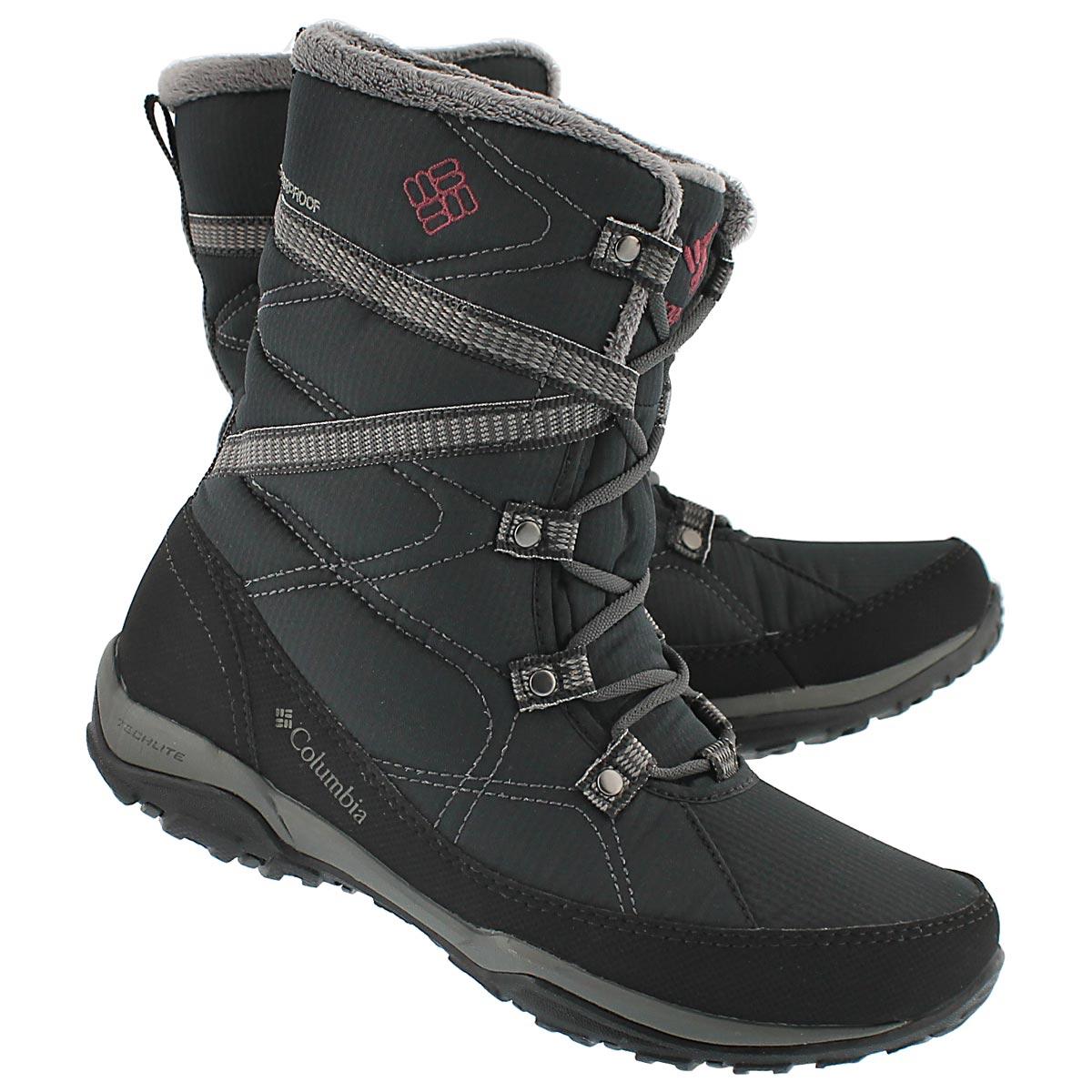 Lds Minx Fire Tall blk winter boot
