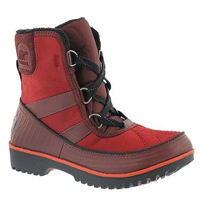 Lds Tivoli II red mid shaft wnter boot