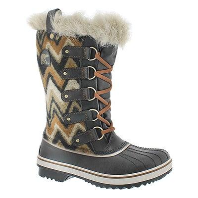 Lds Tofino blk chevron wtpf winter boot
