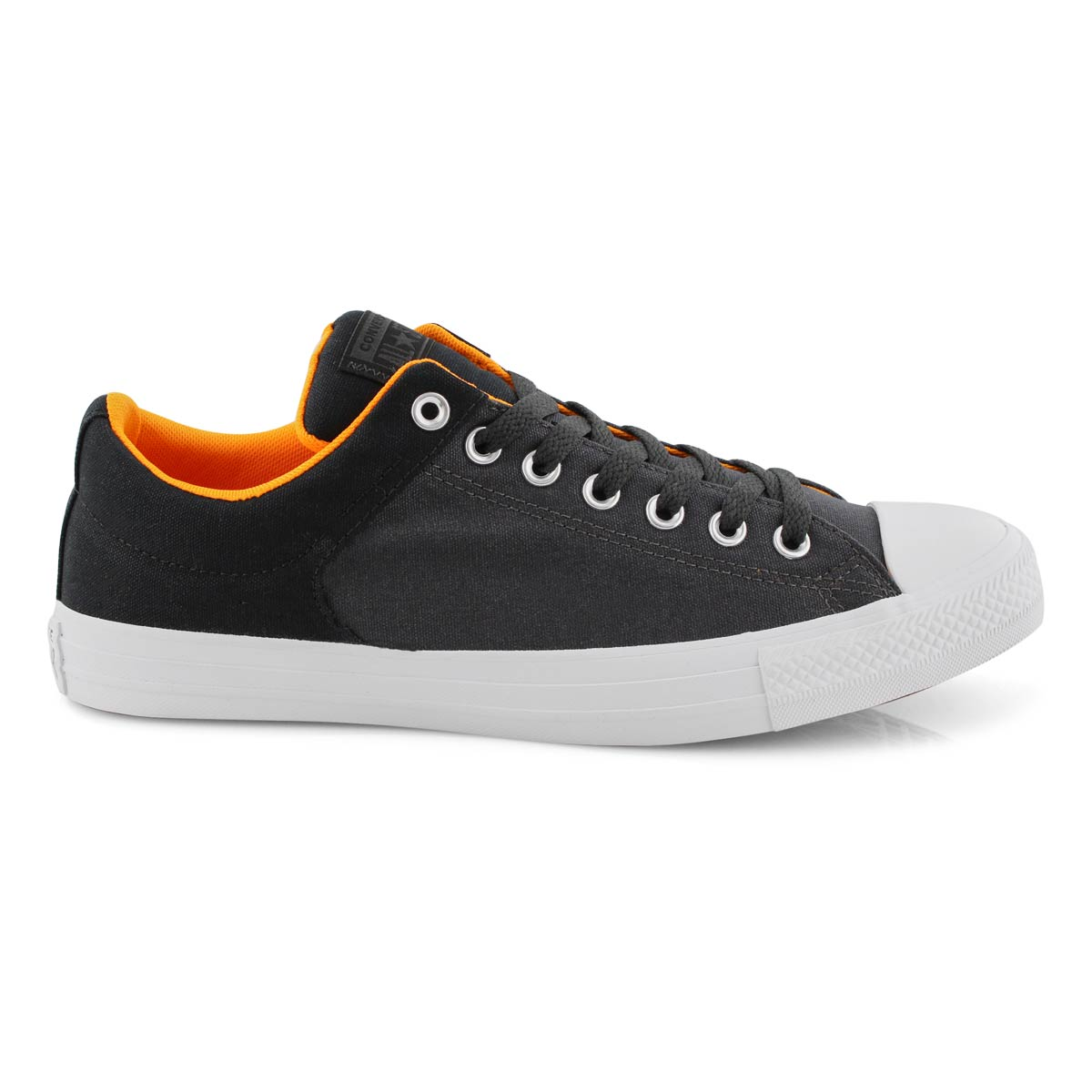 Mns CTAS High Street blk/orng snkr