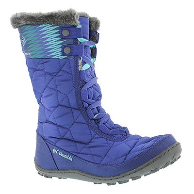 Columbia Girls' MINX MID II Print grape winter boots