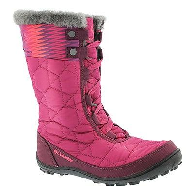 Columbia Girls' MINX MID II Print pink winter boots