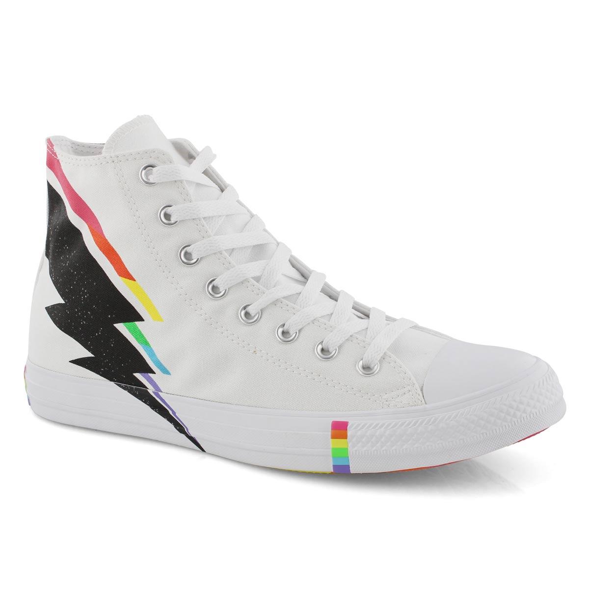 Mns CTAS Rainbow Pride Hi wht/mlt snkr