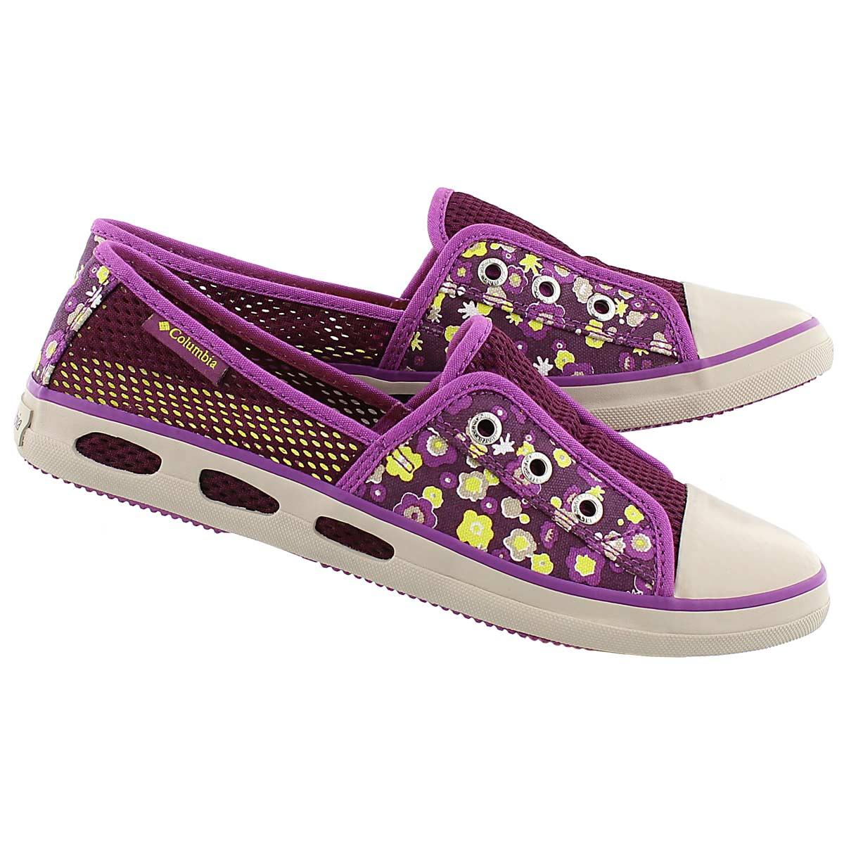 Lds Vulc N Vent Bombie purple slip on