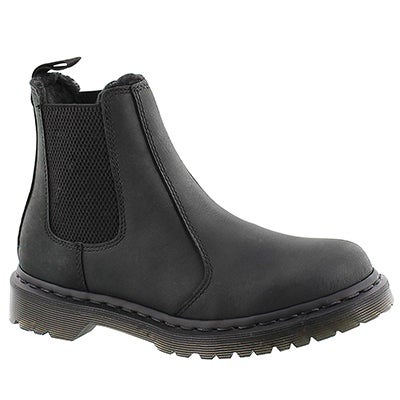 Dr Martens Women's LEONORE black pull on chelsea boots