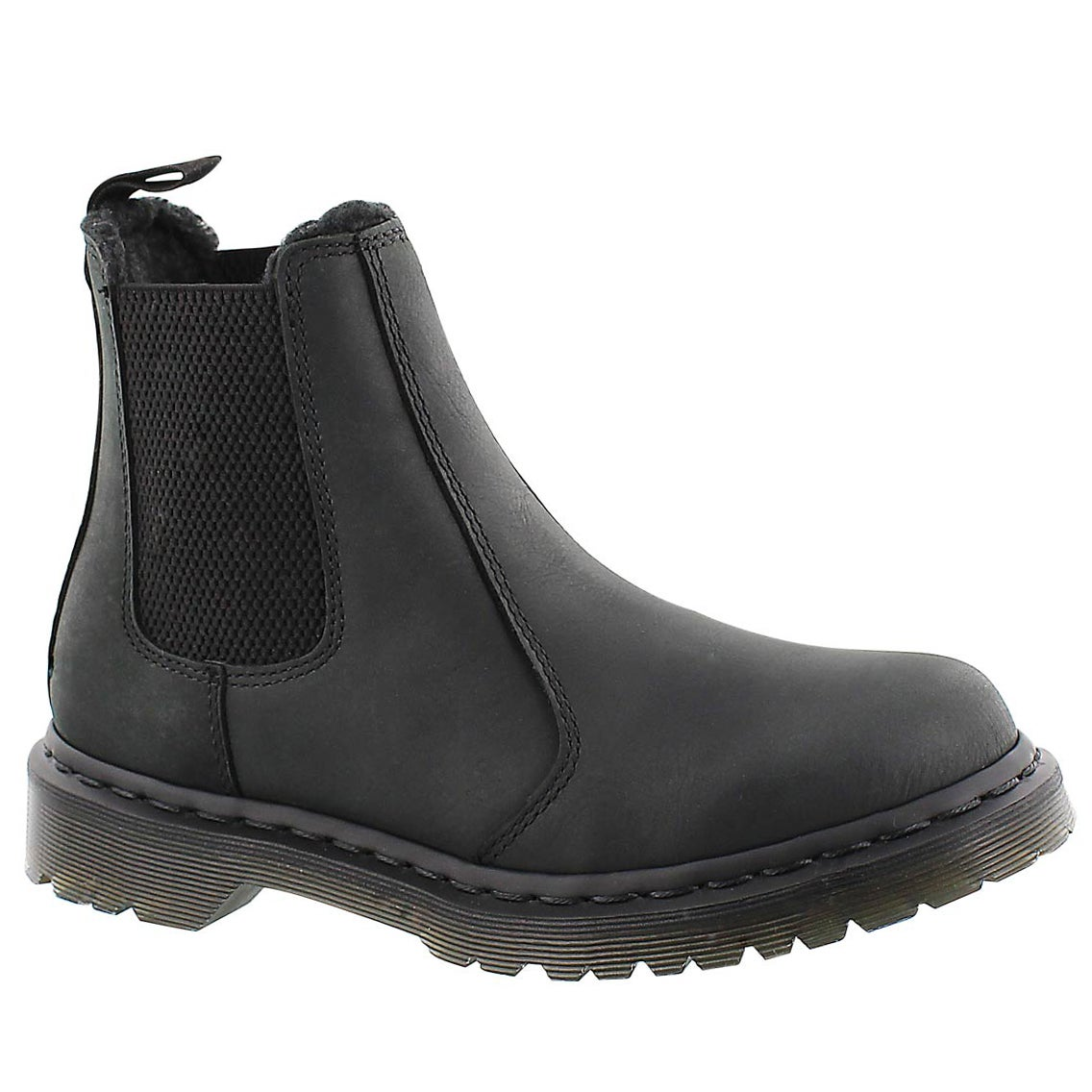 Lds Leonore black pull on chelsea boot
