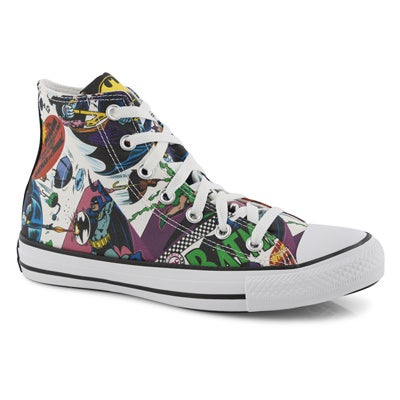 Lds Batman multi/wht high top sneaker