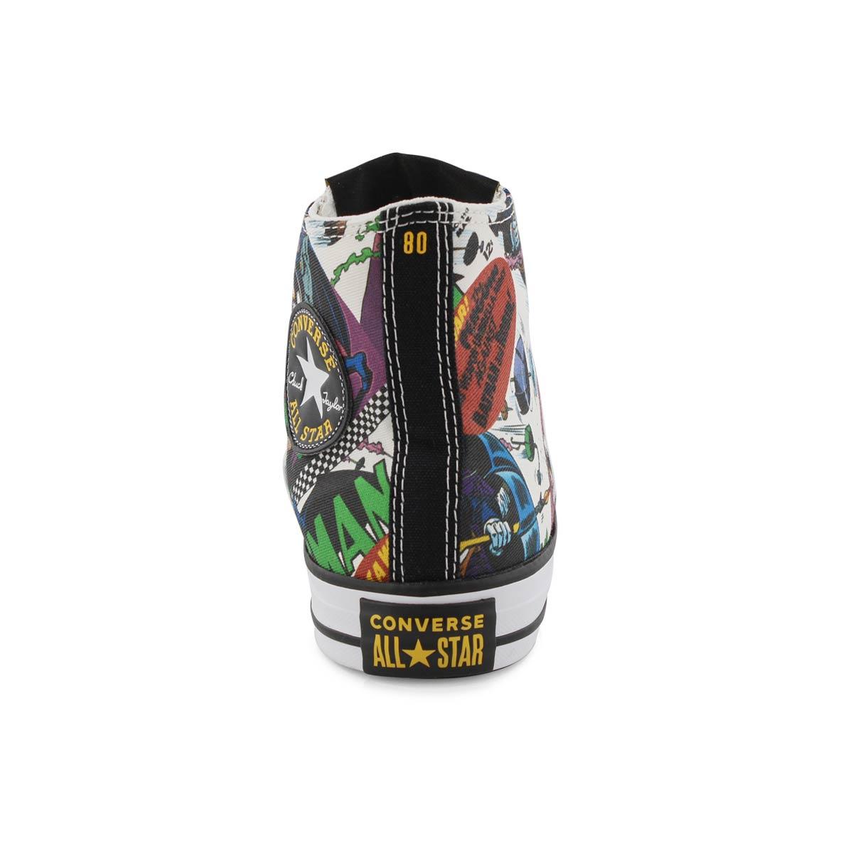 Lds Batman multi/wht high top sneaker