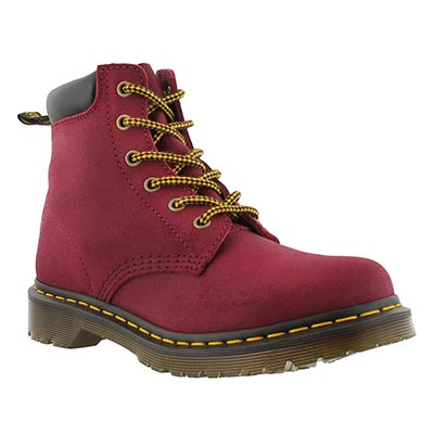 Dr Martens Women's CORE 939 6-Eye deep red greasy hikers