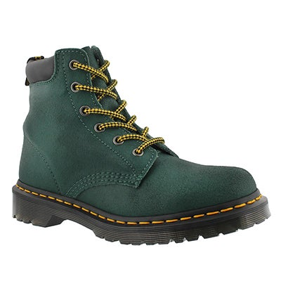Dr Martens Women's CORE 939 6-Eye teal greasy hikers