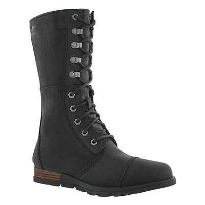 Lds Major Maverick blk mid-calf boot